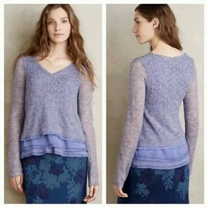 Anthro Knitted & Knotted Alessia Mohair Pullover
